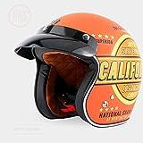 Lhbin Jet Helm Motorrad offener Helm Retro personalisierte Unisex Helm-X288-TYPE32-XXL