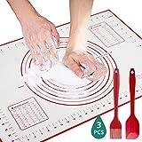 GeeRic Silikonmatte Silikon Backmatte Baking Mat BPA frei, Backmatte SilikonBaking Mat Nonstick mit...