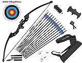dostyle Recurve Bogen Takedown Bogenschieen Pfeil und Bogen Set Jagd Langbogen Kit 40 lbs Right Hand