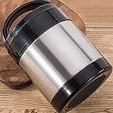FPXNBONE Thermobehälter für Essen,Doppelt isoliertes Edelstahlgehäuse, gegen Überlaufkolben 1,4...