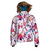 Toygogo Professionelle Damen Ski Jacke Anzug Winddicht Kapuzen Wintermantel - Wei L
