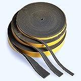 Zellkautschuk/Moosgummi EPDM Dichtungsband, schwarz, 10-m-Rolle | Stärke 1-5 mm | Breite 5-60 mm |,...