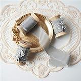 ABOO Woodenspools Seidenband für Hochzeitsfeier, Einladungen, Karten