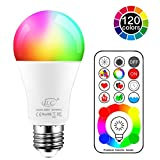 LED Glühbirne 120 Farben 10 Watt RGBW Farbige Leuchtmittel RGB+Weiß Lampe Edison Farbige...