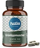 Grünlippmuschel Kapseln (150 vegane Kapseln) - 1650 mg Grünlippmuschelpulver pro Tagesdosis - SEHR...