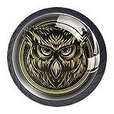 Haminaya Möbelknöpfe Set Brown Circle Owl Schrankknopf Kinderzimmer Möbelgriffe Kinder...
