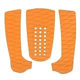 SaniMomo 3er Diamond Surfboard Traction Pad Heckpad Deck Grip Zubehör Orange