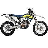 Maisto Husqvarna FE 501: Originalgetreues Motorradmodell 1:12, mit beweglichem Stnder, Federung und...