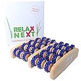 Fussmassageroller aus Holz | gegen müde und schmerzende Füße | Reflexzonen Fussmassagegerät |...
