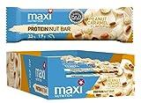 MaxiNutrition Protein Nut Bar - weiße Schokolade-Erdnuss Karamell, 18 x 45g (810g)