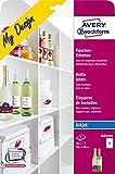 AVERY Zweckform MD4001 Flaschenetiketten (120x90 mm auf DIN A4, selbstklebend, bedruckbare...