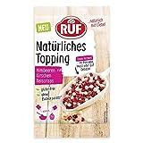 RUF Natürliches Topping Himbeeren, Kirschen, Reiscrisps, glutenfrei, ohne künstliche Zusatzstoffe,...