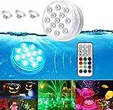 Unterwasser Licht, Ventdest Poolbeleuchtung Wasserdichte LED Licht, mehrfarbige RGB 13 LED mit...