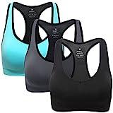 ANGOOL Damen Komfort Klassische Racerback Sport BH Top Fuer Yoga Fitness-Training,...