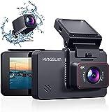 Kingslim 4K Dual Dashcam mit WiFi GPS, vordere 4K/2.5K hintere 1080P Autokamera, 3 'IPS Touchscreen...