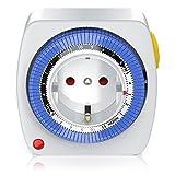 Bearware - 24h mechanische Zeitschaltuhr Plug in Timer - 96 Schaltsegmente - Schaltknopf für Ein...