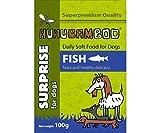 Huhubamboo Tasche mit Fisch, Fleisch 100g Huhubamboo, Beutel, Hunde
