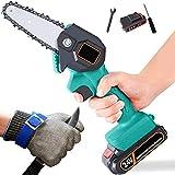 Himenooji Mini Elektrische KettensäGe, mit schnittfesten Handschuhen iederaufladbare Kleine...