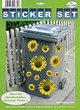 My Home Mülltonnen-Sticker'Sonnenblumen'