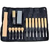 ADUGEN Stechbeitel Satz, Schnitzen Haushalt Holz Werkzeuge, Edelstahl scharf handgemachte...