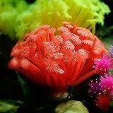redcolourful Simulierte Anemonenform Silikon Dekoration für Fischglas Aquarium schön und langlebig