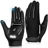 LUROON Herren Damen Touchscreen Fahrradhandschuhe Anti-Rutsch Sport Handschuhe Gel Gepolstert...