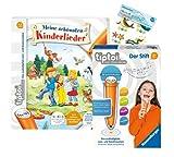 tiptoi Ravensburger Set: Meine schönsten Kinderlieder (Bilderbuch) + 00801 Der Stift - mit...