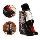 Weinregal, 1 Flasche, Stiefelform, Kreative Vintage Cowboy Bar Dekoration Weinregal, Alte...