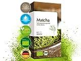 MEDICOM BIO Matcha 60 Kapseln hochdosiert • Vegan & Bio zertifiziert • 600 mg Matcha Extrakt...