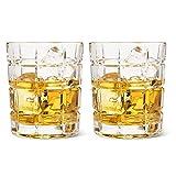 CuiXiangUK Exquisite Whiskygläser, jedes Set aus bleifreiem 2, 10 oz Vintage Whiskyglas, geeignet...