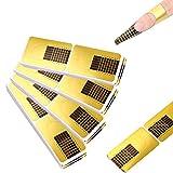 Nagel-Schablonen (200 Stück), Modellier-Schablone selbstklebend für Gel-Nägel &...