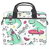 GLEND-Musik-Liebhaber-Dinosaurier-Notebook-Tasche, Umhängetasche, Laptop-Tasche für Damen und...