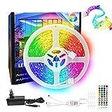 LED Streifen 10M / Rolle RGB, Rilitor LED Band Schlafzimmer SMD 5050 RGB Stripes Sync mit Musik 12V...