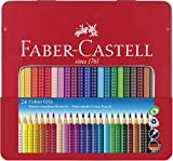 Faber-Castell - Farbstift Colour Grip (24er Metalletui) stabiles, langlebiges Etui auch für...