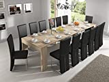 Home Innovation – Ausziehbarer Konsolentisch, Esstisch, bis 301 cm, Eiche hell, Maße geschlossen:...