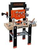 Smoby – Black+Decker Werkbank Center – mit viel Zubehör, mechanischem Akkuschrauber,...