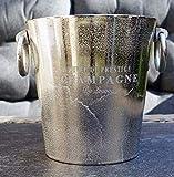 Michael Noll Champagnerkühler, Weinkühler, Flaschenkühler, Aluminium, Silber, S, M, L, 20 cm, 23...
