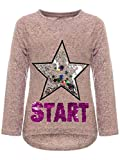 BEZLIT Kinder Mädchen Pullover Sweatshirt Pulli Wende-Pailletten Sweater Langarm-Shirt 30015 Rosa...