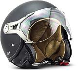 "SOXON® SP-325 Mono ""Night"" · Jet-Helm · Motorrad-Helm Roller-Helm Scooter-Helm Moped..."