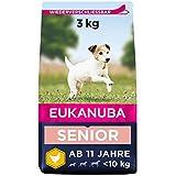 Eukanuba Hundefutter mit frischem Huhn für kleine Rassen, Premium Trockenfutter für Senior Hunde,...