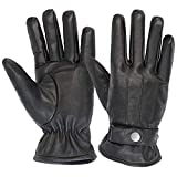 ALPIDEX Herren Lederhandschuhe Echtleder Winterhandschuhe Leder Handschuh - Größe:L, schwarz