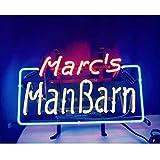 Marc's ManBarn Neonlicht Schild Zeichen Lampen leuchtschild für Beer Bar Party Billard Hotel Beach...