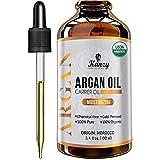 Kanzy Arganöl Haare Bio Kaltgepresst 100% Rein für Gesicht, Haut und Körper, Anti-Aging Vegan...