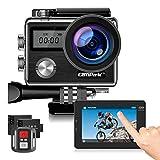 Campark X20 4 K 20 MP Action Kamera mit EIS Touch Screen Einstellbarer Betrachtungswinkel 30 m...