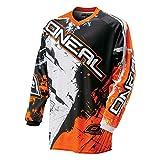 O'Neal Element Kinder MX Jersey Shocker orange Motocross Enduro Cross Motorrad Downhill Shirt,...