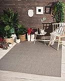 Mia´s Teppiche Lara Flachgewebe In-& Outdoor Teppich UV-und Witterungsbeständig Grau, 100%...