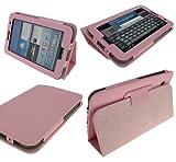 Samsung Galaxy Tab 2 Baby Pink PU Leder Tasche Hlle mit Standfunktion fr hohe-hochwertiges...