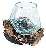 Ausdrucksvolle Deko-Vase Glasvase Blumenvase Mini, H. ca 10 cm, Ø Glas ca. 8 cm, auf...