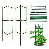 Pflanzenhalter, Rankhilfe Pflanzen, Robuste Tomatenkäfig, Gartenpflanze StützstangenKäfig Lange...