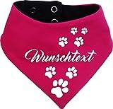 KLEINER FRATZ beidseitiges Multicolor Hunde Wende- Halstuch (Fb: pink-Navy) (Gr.3 - HU 36-44 cm) mit...